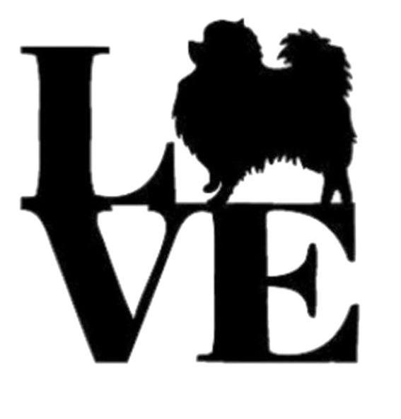 Pomeranian Aufkleber Love
