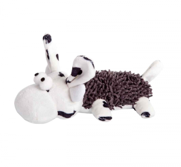 Kuh aus Plüsch mit Quitscher