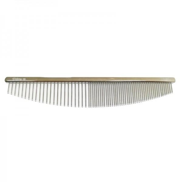 TRIM Metallkamm, Halbmond Nr.19, halb und halb (fein / extra fein), Länge 19 cm