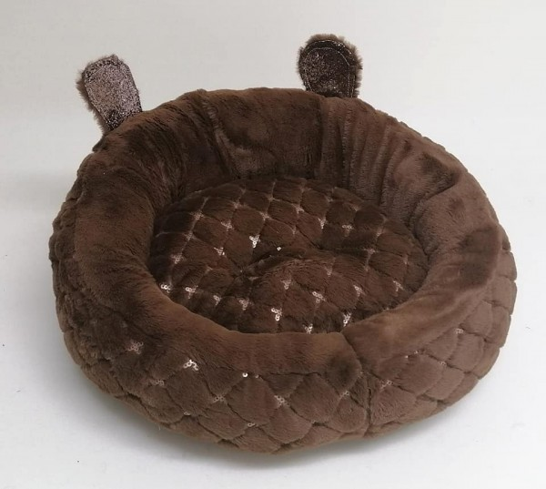 Eh' Gia Hundebett /Donut in braun