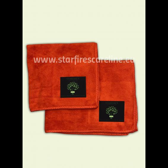 Starfire Microfaser Handtuchset 2- tlg in rot