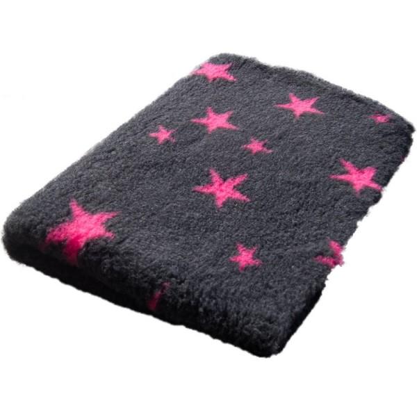 Blovi DryBed VetBed A Grau/Sterne Pink rutschfest