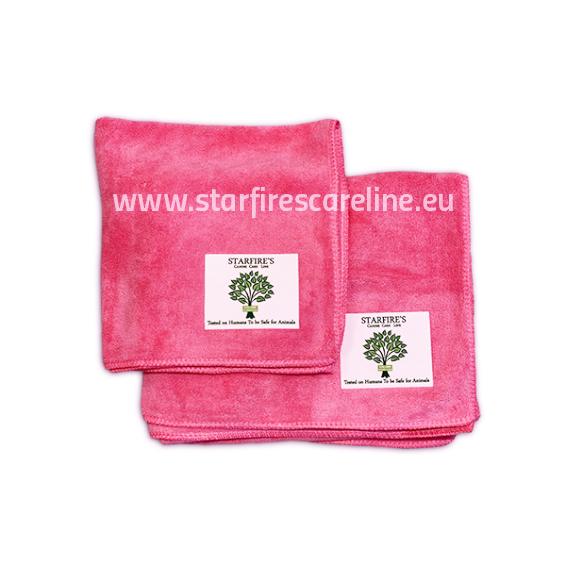 Starfire Microfaser Handtuchset 2- tlg in pink
