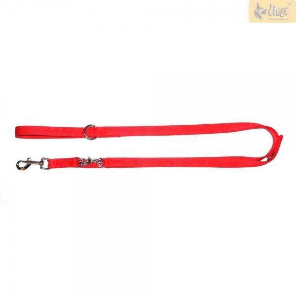 Hundeleine verstellbar bis 220 cm in rot