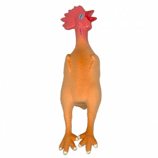 Latex Huhn mit Quitscher 15 cm