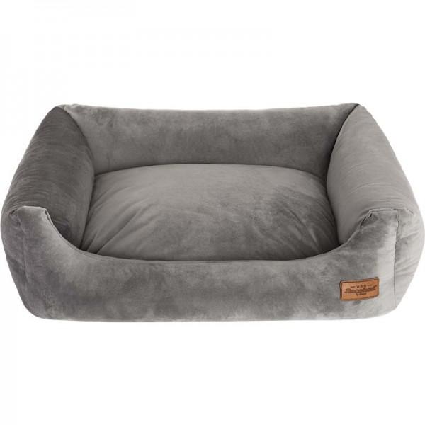 Recobed - Hundebett velour grau 65 x 50 cm