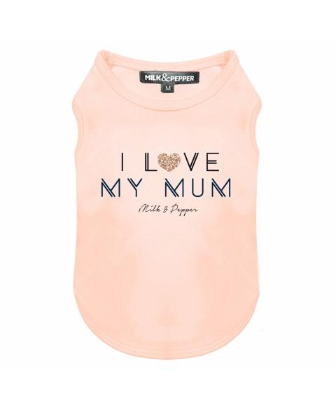 Hunde T-Shirt I Love My Mum