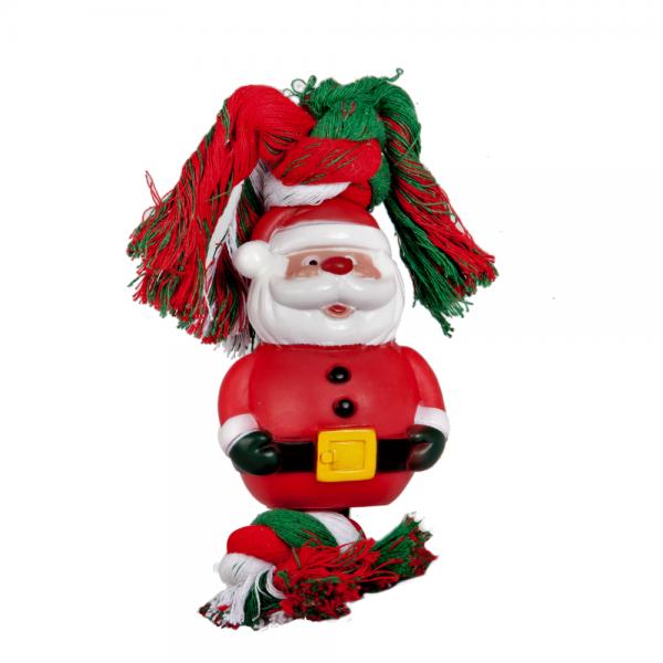 Vinyl Weihnachtsmann mit Baumwollschnur