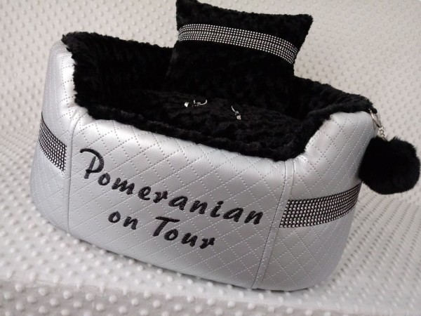 Luxury Autositz mit Pomeranian-Stickerei