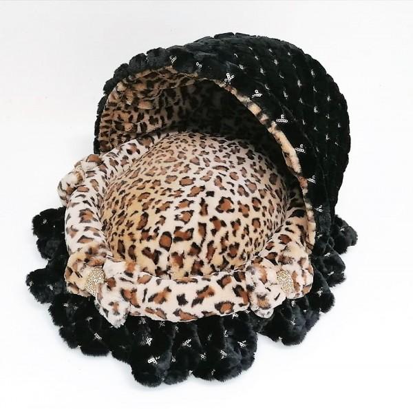 """Eh Gia' Kuschelbettchen """" Leopard """" mit Pailetten"""