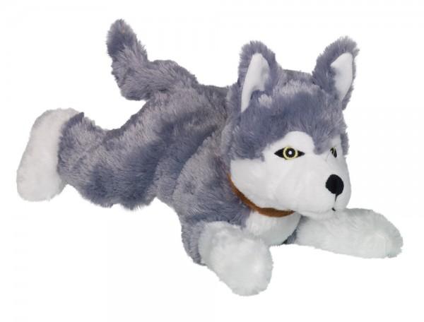 """Plüsch Hund """"HUSKY"""" 35 cm mit Quietch-Geräuschen"""