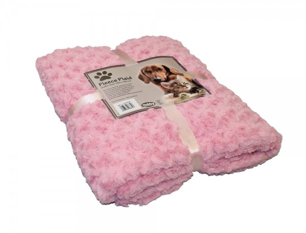 "Fleece Plaid ""SUPER SOFT"" Rosa 60 x 85 cm"
