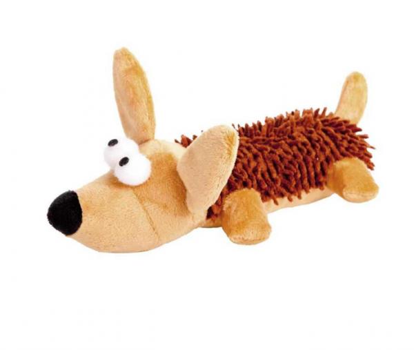 Hund aus Plüsch mit Quitscher