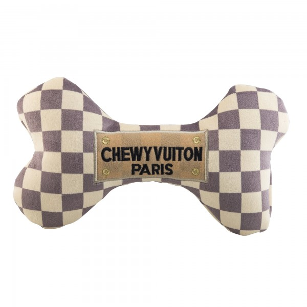 Checker Chewy Vuiton Bone Toys XL
