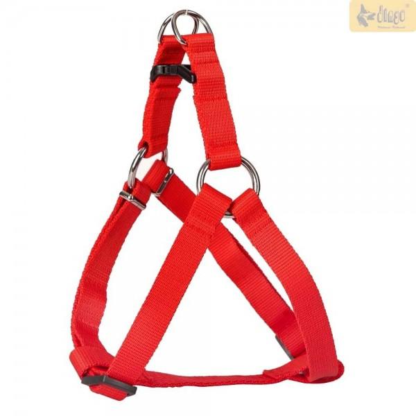 Hundegeschirr aus Nylon in rot