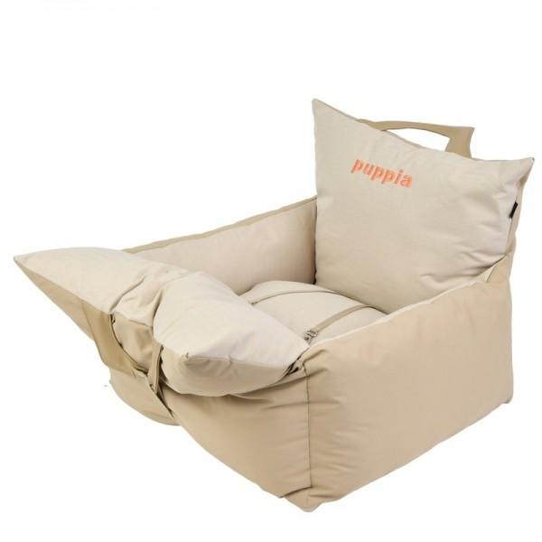 Puppia Premium Autositz für Hunde beige