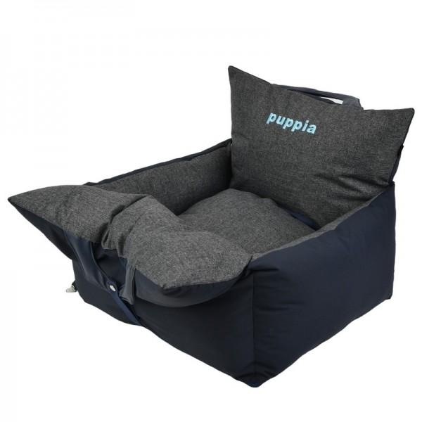 Puppia Premium Autositz für Hunde grau