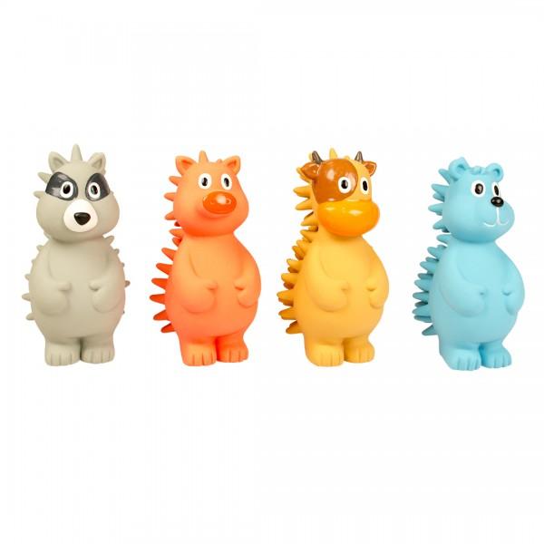 Latex Spielfiguren in vier Farben 14,5 cm