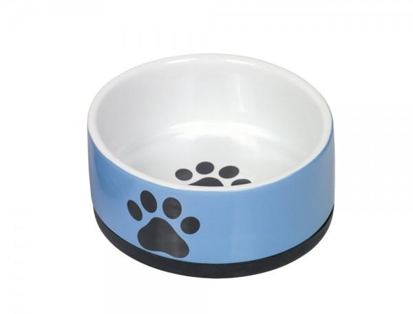 "Keramik Napf ""Paw"" blau"
