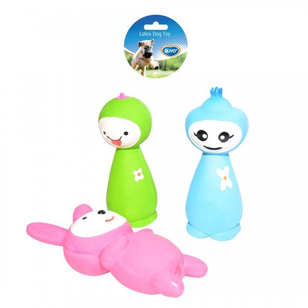 Latex Spielfiguren in drei Farben 16 cm