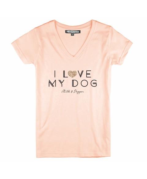 Damen T-Shirt I Love My Dog