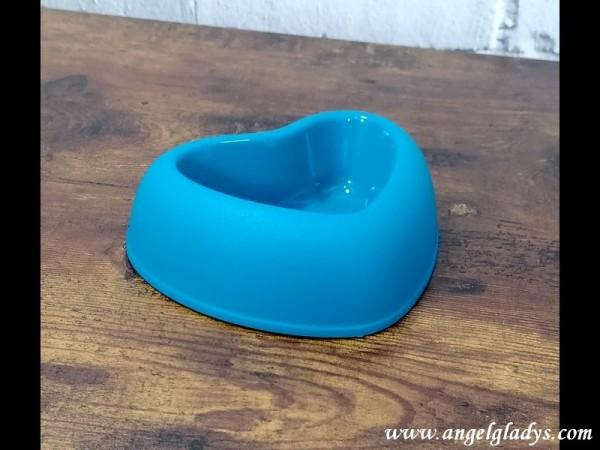 Hundenapf in Herzform Blau