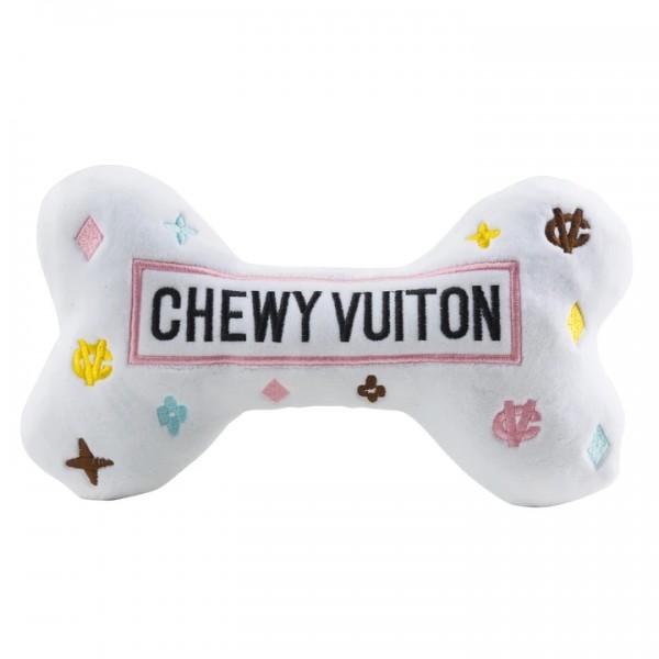 White Chewy Vuiton Bone Toys