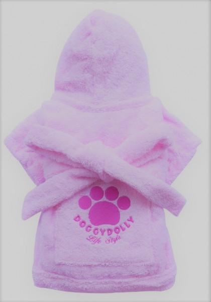 Doggydolly Bademantel Life Style rosa