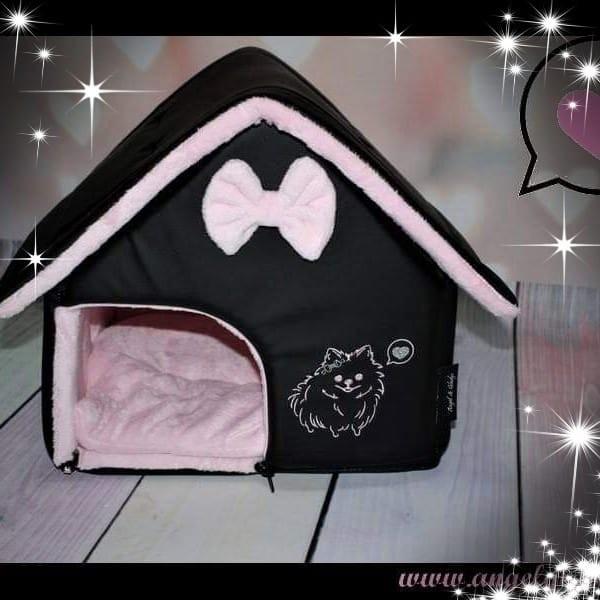 Angel & Gladys Kuschelhaus schwarz/rosa