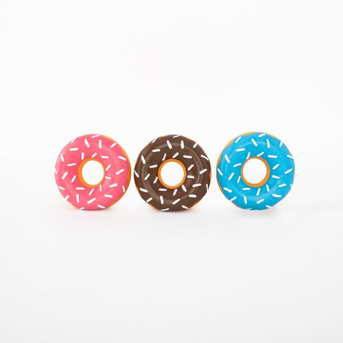 ZippyPaws Latex Donuts 3-Pack