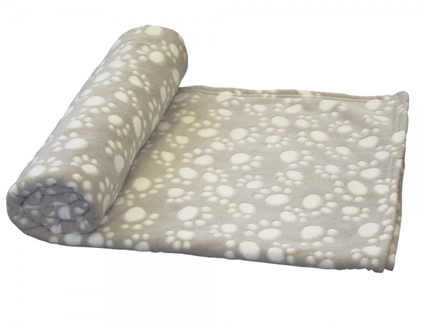 "Fleece Plaid ""EMMI"" Classic beige 75 x 50 cm"