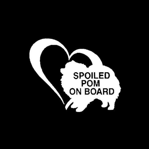 Pomeranian-Aufkleber Spoiled Pom