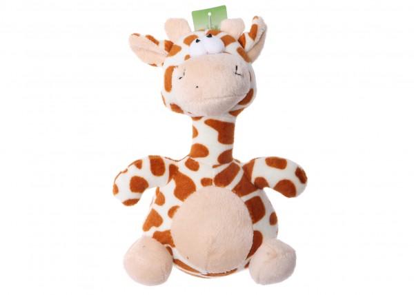 """Hundespielzeug aus Plüsch """" Squeaker Giraffe """" 20 cm"""