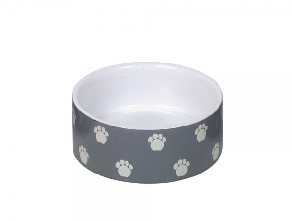 "Keramik Napf ""Pata"" grau/weiß Ø 12 x 4,5 cm"