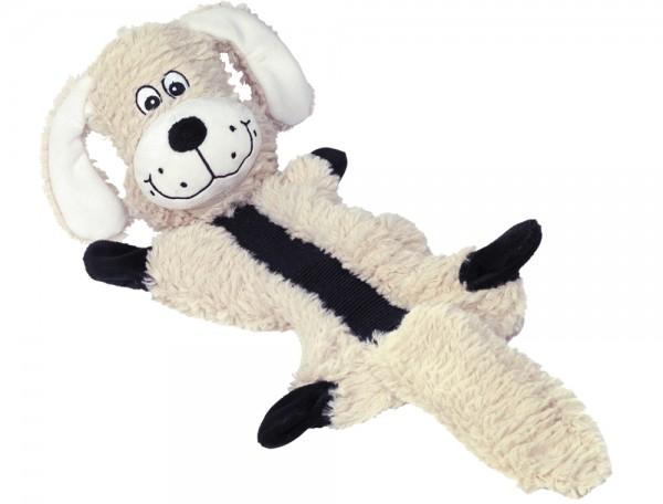 Plüsch Hund mit Knister - und Quietschgeräuschen 50 cm