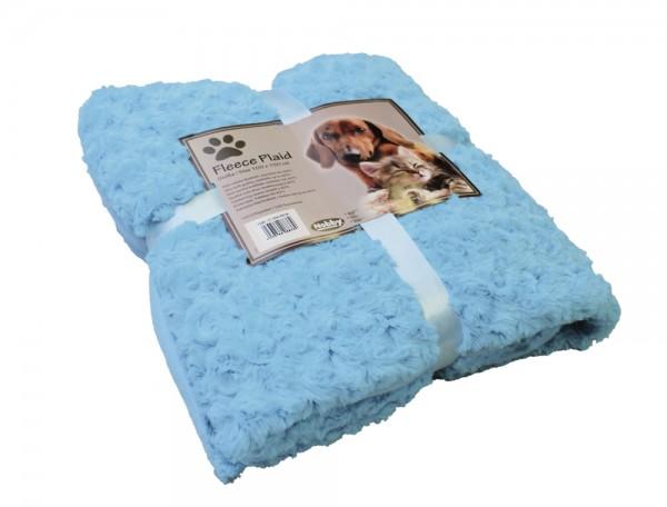 "Fleece Plaid ""SUPER SOFT"" Blau 100 x 150 cm"