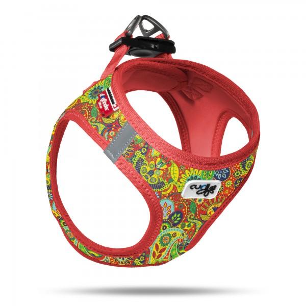 CURLI Vest Harness Air-Mesh Red-Floral SE2021 * Vorbestellung *