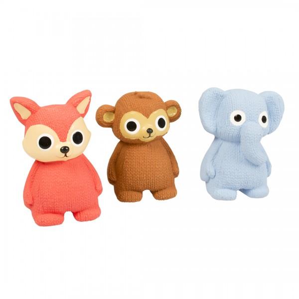 Latex Tierfiguren in drei Farben 11 cm